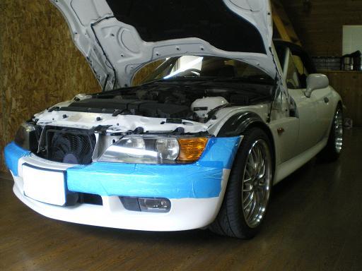 BMWZ3 ライト交換^^