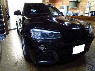 フルラッピングもありですね~BMW Ⅹ3 F25 にボンネットラッピング