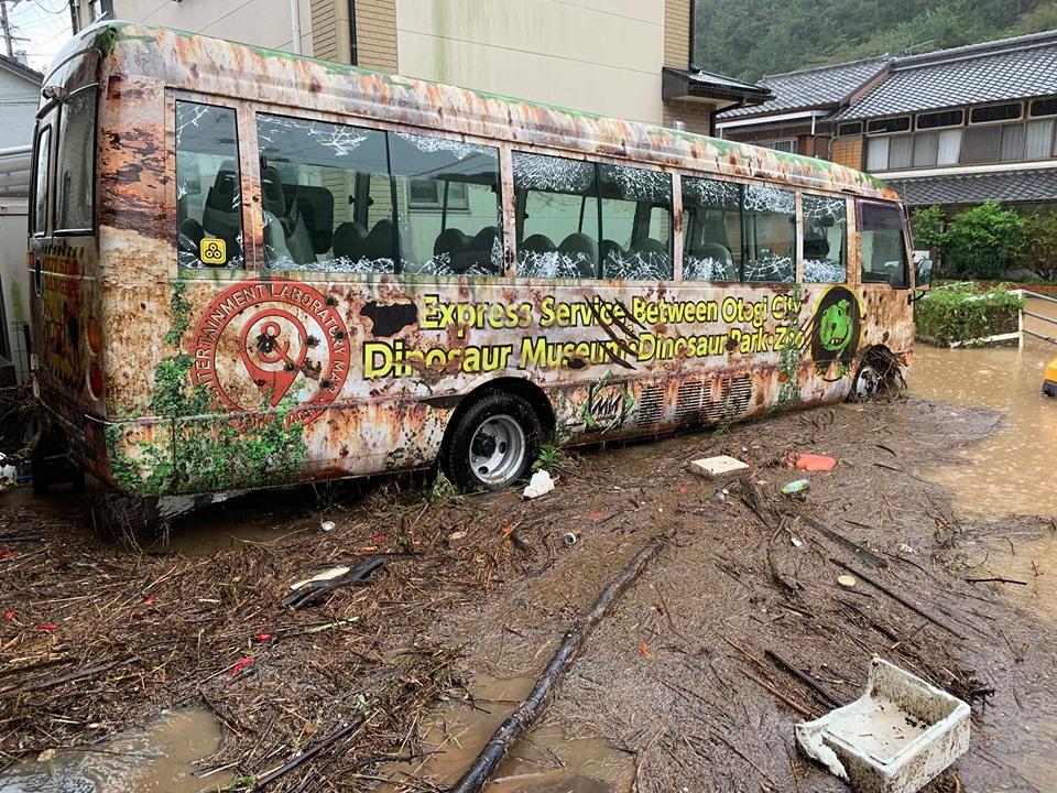 バス浸水。