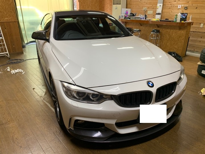 BMW4シリーズグランクーペ(F36)ルーフラッピング。