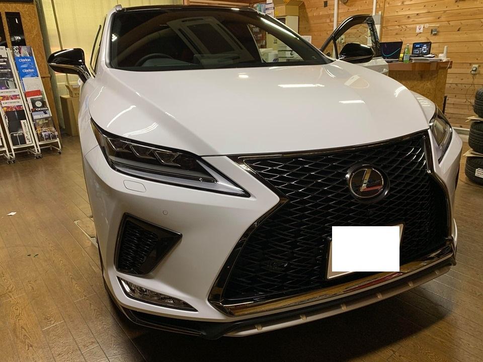 新車購入時にご依頼ください!レクサスRXに盗難対策&用品取付!